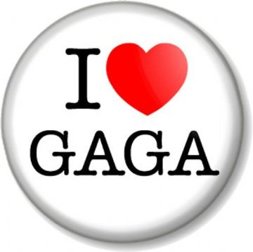 I Love / Heart GAGA Pinback Button Badge Lady Gaga Singer Songwriter Musician Pop Star